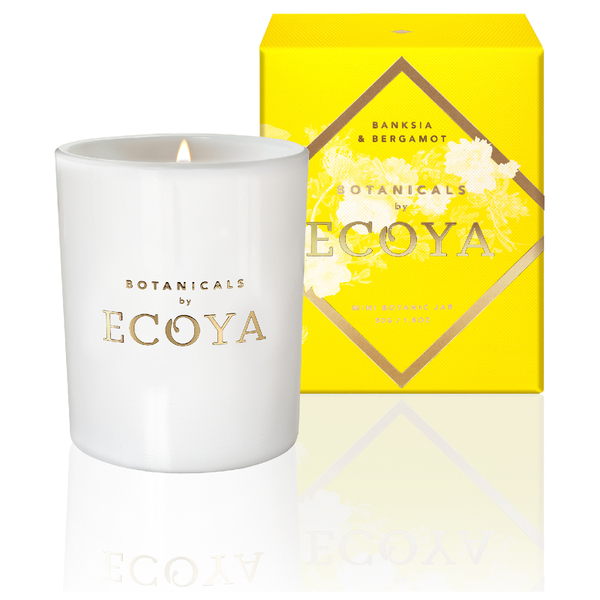 ECOYA Botanicals Evolution Banksia and Bergamot Candle - Mini Botanic Jar