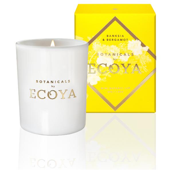 ECOYA Botanicals Evolution Banksia and Bergamot Candle - Mini Botanic Jar
