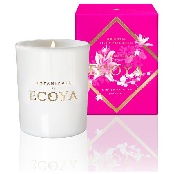 ECOYA Oriental Lily and Patchouli Candle - Mini Botanic Jar