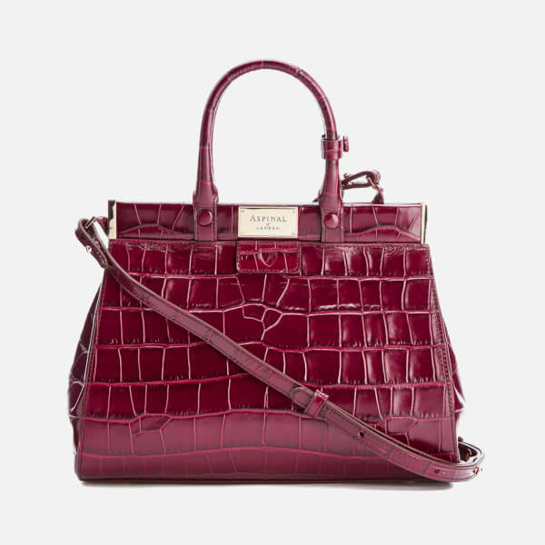 Aspinal of London Women's Florence Snap Bag Small Tote Bag - Bordeaux