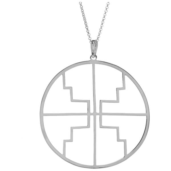 Kiki Minchin Women's The Roxy Disc Necklace - Silver