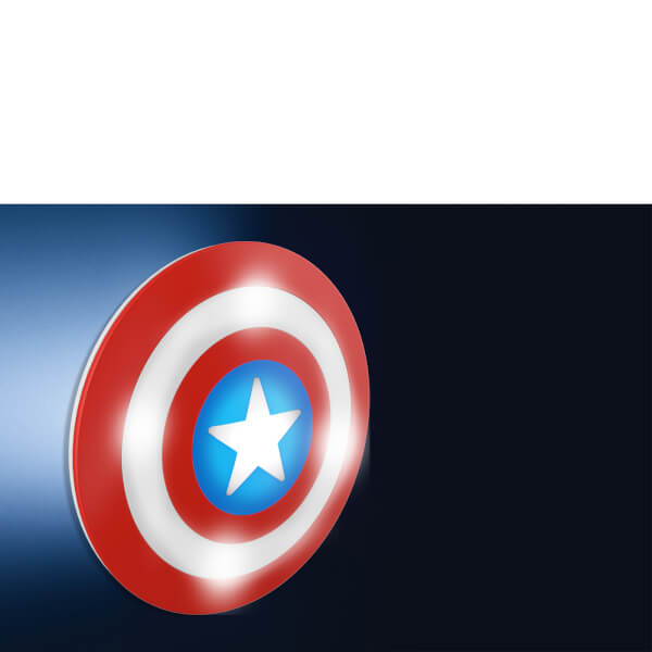Marvel 3d wall light captain america shield gifts zavvi australia marvel 3d wall light captain america shield aloadofball Choice Image