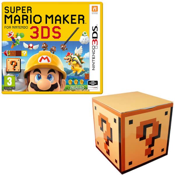 Super Mario Maker for Nintendo 3DS + Question Mark Block Storage Tin