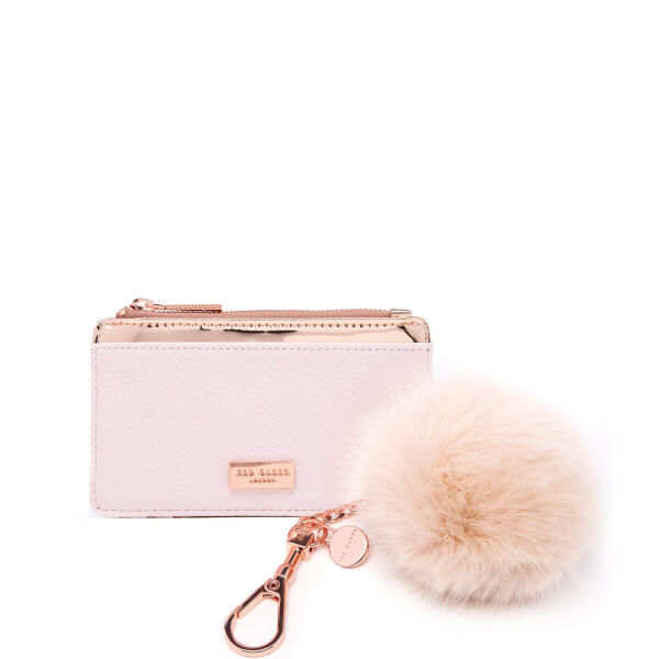 c77a8347c8bf04 Ted Baker Women s Deenaa Card Purse with Pom Gift Set - Nude Pink  Image