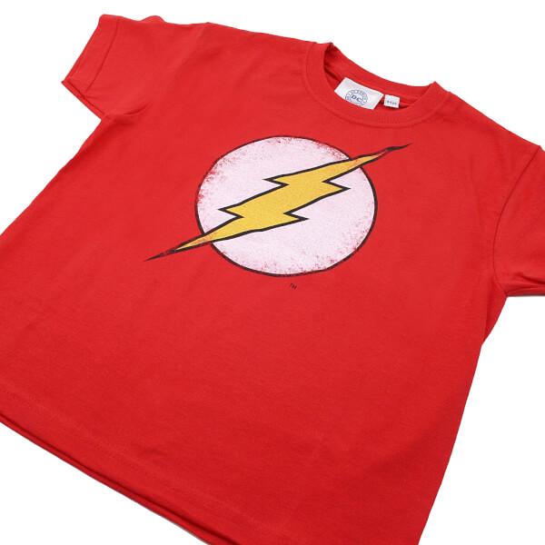 Dc Comics Boys The Flash Distress Logo T Shirt Red Merchandise