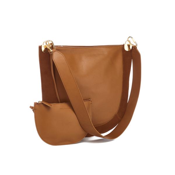 0d21f396f26d9 Diane von Furstenberg Women s Moon Leather Suede Cross Body Bag - Whiskey   Image 3