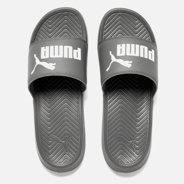 1cdbb9aba786 Puma Men s Popcat Slide Sandals - Grey White  Image 1