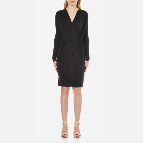 Samsoe & Samsoe Women's Trinny V-Neck Dress - Black