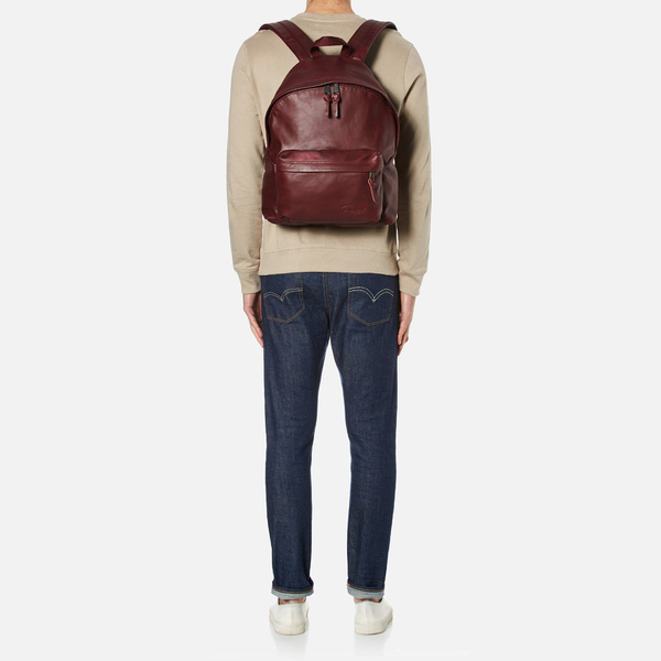 6d76efedaaa Eastpak Padded Pak'r Leather Backpack - Oxblood: Image 2