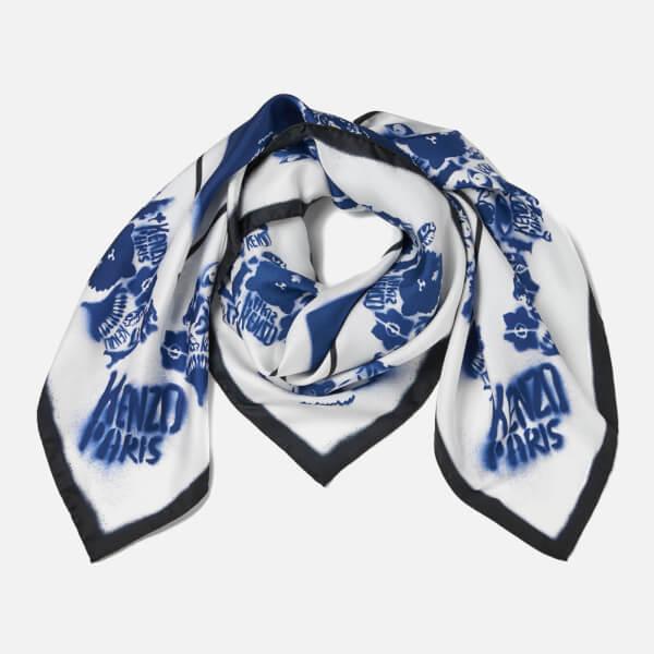 KENZO Oversize Tiger Bandana - Blue