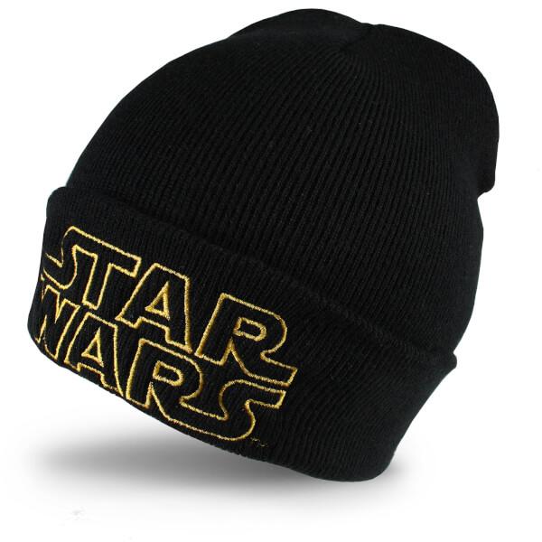 Star Wars Men's Retro Logo Beanie - Black
