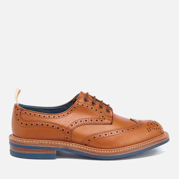 Tricker's Men's Bourton Revival Leather Brogues - Acorn/Blue Sole