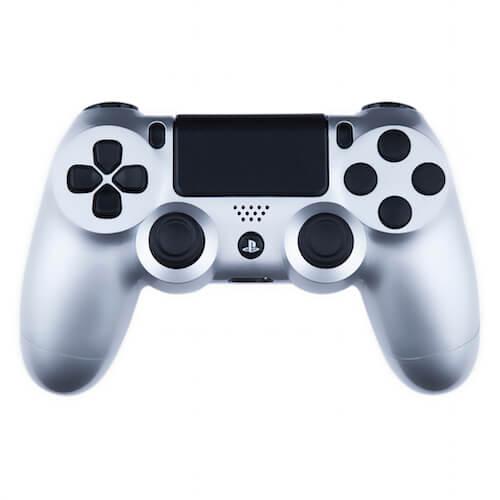 Playstation 4 Custom Controller - Gloss Silver & Black