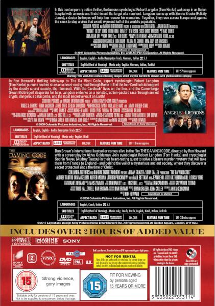 Inferno Angels Demons The Da Vinci Code Boxset