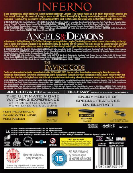 Inferno Angels Demons The Da Vinci Code 4K Ultra HD Boxset 7