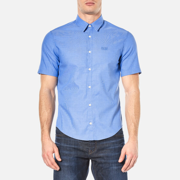 BOSS Green Men's Busterino Shirt - Medium Blue