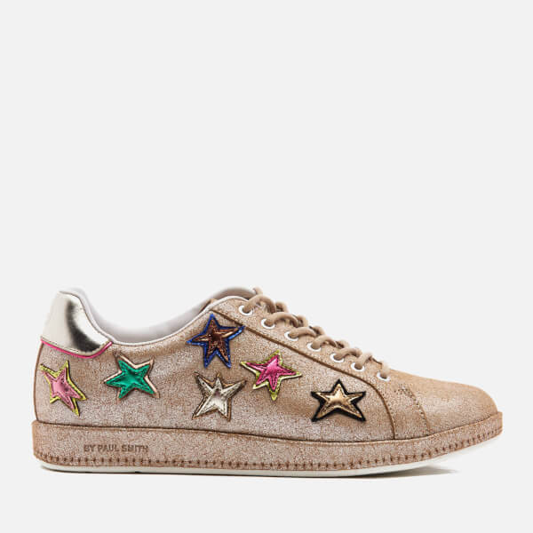 PS by Paul Smith Women's Lapin Metallic Star Print Trainers - Champagne Mono Lux