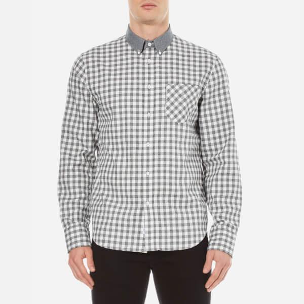 rag & bone Men's Yokohama Long Sleeve Shirt - White/Grey