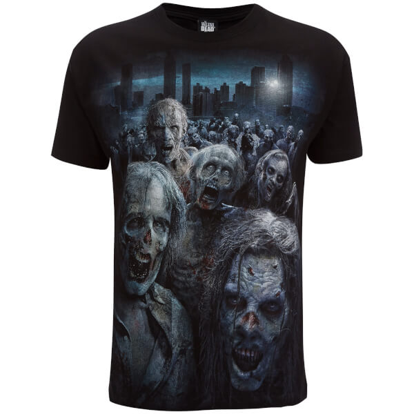 Spiral Men S Walking Dead Zombie Horde T Shirt Black