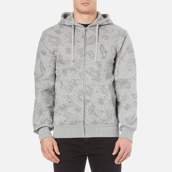 Billionaire Boys Club Men's Galaxy All Over Print Zipped Hoody - Heather:  Image 1