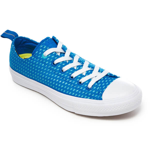 cf535fc052f22a Converse Men s Chuck Taylor All Star II Ox Trainers - Soar Fresh Cyan White