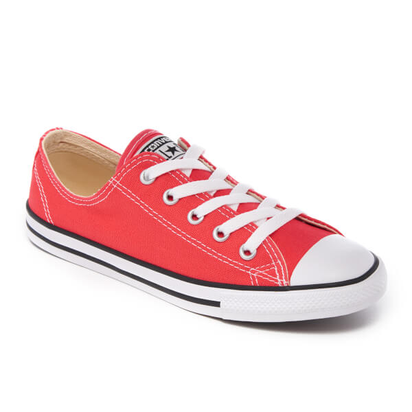 f7c91b1450a0 Converse Women s Chuck Taylor All Star Dainty Trainers - Ultra Red Black  White