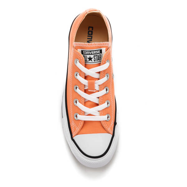 Converse Women s Chuck Taylor All Star Ox Trainers - Sunset Glow  Image 3 78a69ee03