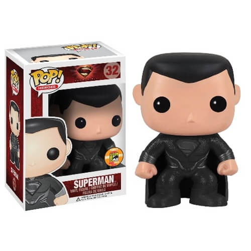 Funko Superman Black Suit SDCC Pop! Vinyl
