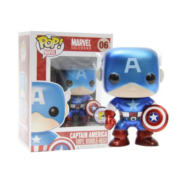 Funko Captain America Metallic (SDCC 2011) Pop! Vinyl