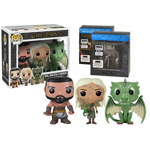 Funko Khal, Khaleesi And Rhaegal (Amazon Exclusive 3 Pack) Pop! Vinyl