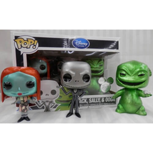 Funko Jack Skellington, Sally & Oogie Boogie - Metallic Pop! Vinyl