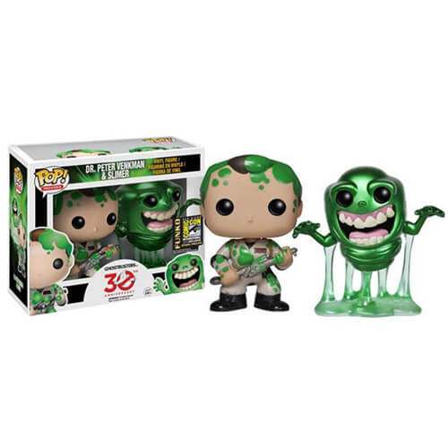 Funko Dr. Peter Venkman And Slimer Vinyle Figure 2 Pack (SDCC 2014) Pop! Vinyl