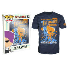 Funko M-Futurama Pop! Tee Fry And Leela Pop! Tees
