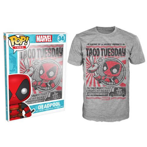 Funko Marvel Deadpool Pop! Tee Taco Tuesday Pop! Tees