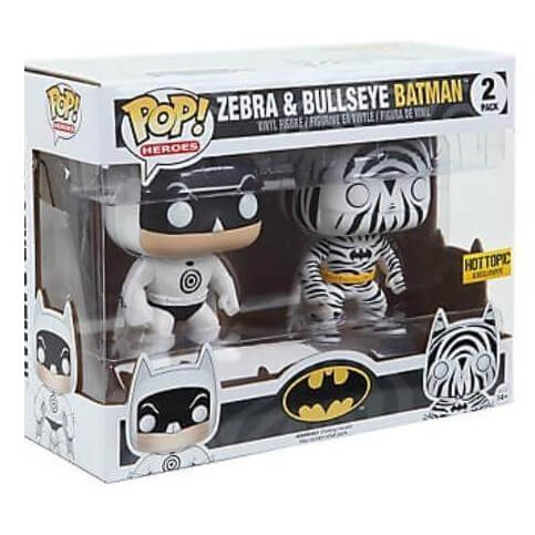 Funko Bullseye & Zebra Batman Double Pack Pop! Vinyl