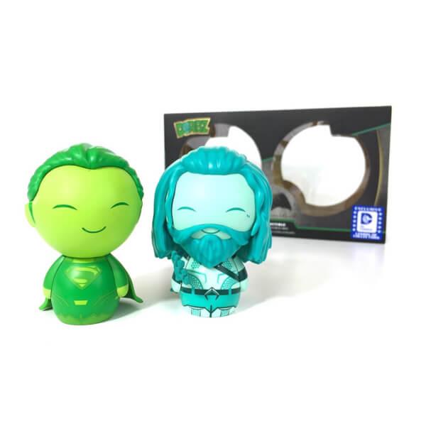 Vinyl Sugar Superman (Green) & Aquaman (Blue) Dorbz