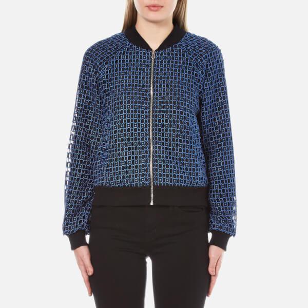 Sportmax Code Women's Sierra Lace Bomber Jacket - Blue