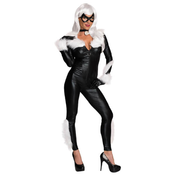 Marvel Women's Secret Wishes Black Cat Fancy Dress Costume