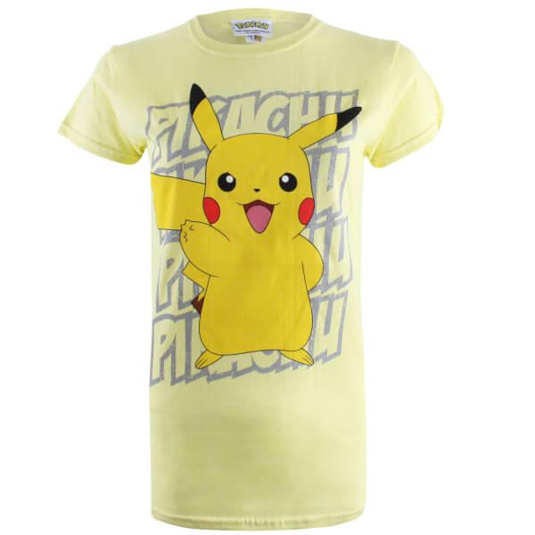 Pokemon Women's Pikachu Victory T-Shirt - Yellow
