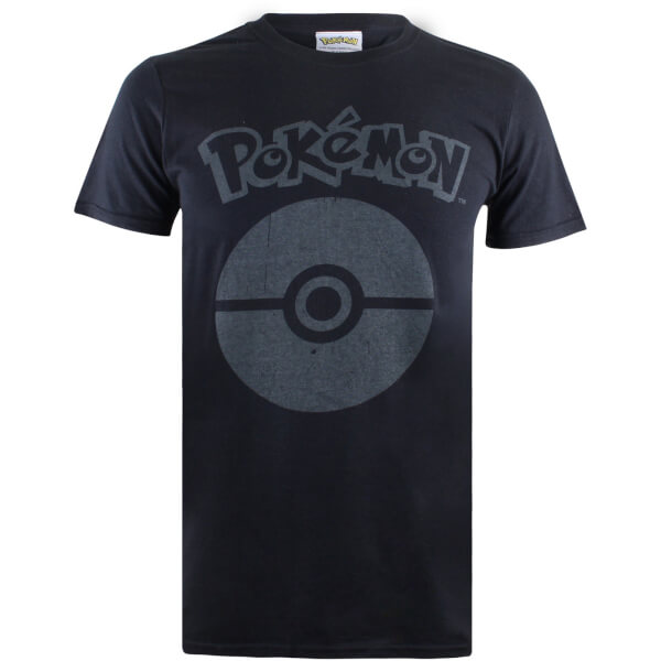 Pokemon Men's Pokeball Symbol T-Shirt - Black