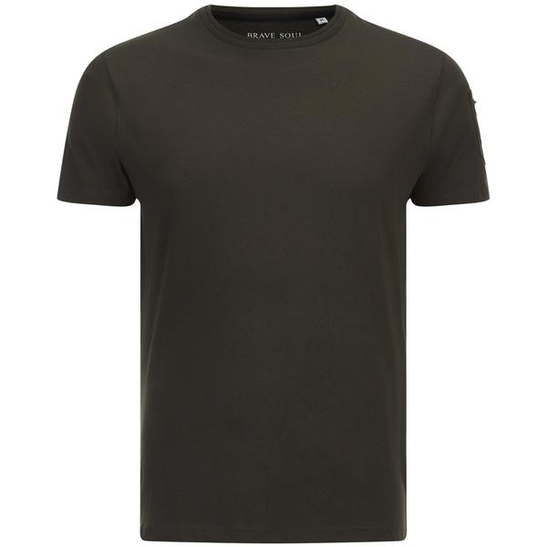 T-Shirt Homme Kershaw Pocket Sleeve Brave Soul -Kaki
