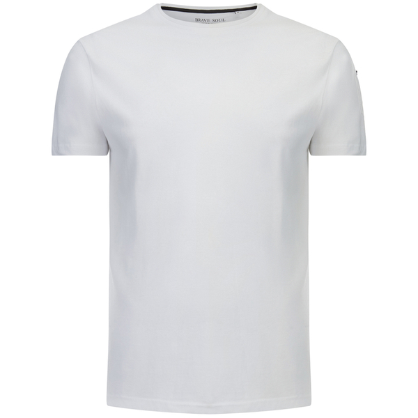 Brave Soul Men's Kershaw Pocket Sleeve T-Shirt - Optic White