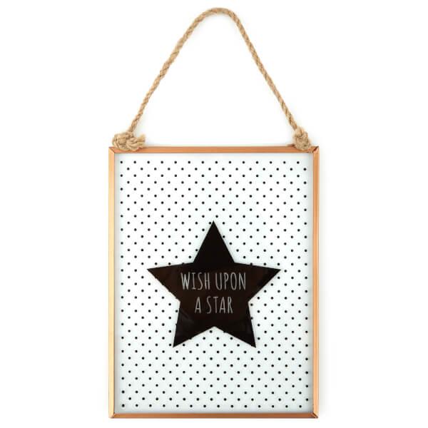 Slogan Glass Plaque - Wish Upon a Star