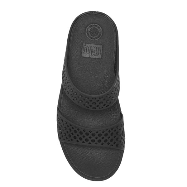 090edf7e05ef FitFlop Women s Welljelly Z-Slide Sandals - All Black  Image 3