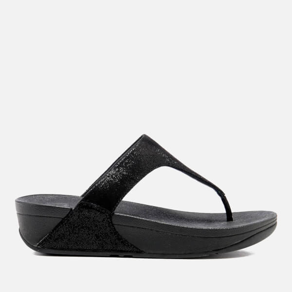 8394b319915 FitFlop Women s Shimmy Suede Toe-Post Sandals - Black Glimmer  Image 1