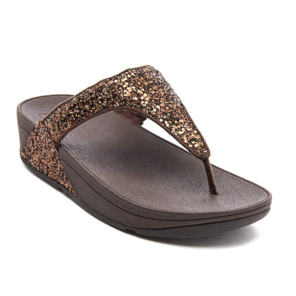 1d8412250b5442 FitFlop Women s Glitterball Toe-Post Sandals - Bronze  Image 2