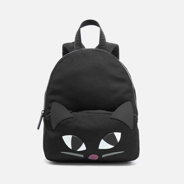 Lulu Guinness Women's Medium Kooky Cat Backpack - Black
