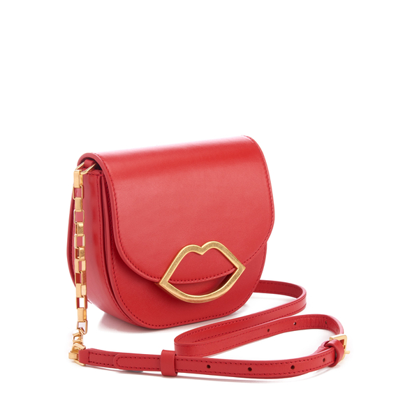 7d56a4d58 Lulu Guinness Women's Small Smooth Leather Amy Cross Body Bag - Coral:  Image 4