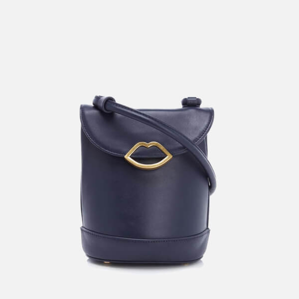 Lulu Guinness Women's Joanna Smooth Leather Cross Body Bag - Navy