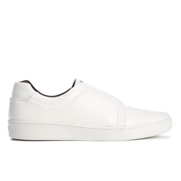 DKNY Women's Bobby Classic Court Slip On Trainers - White